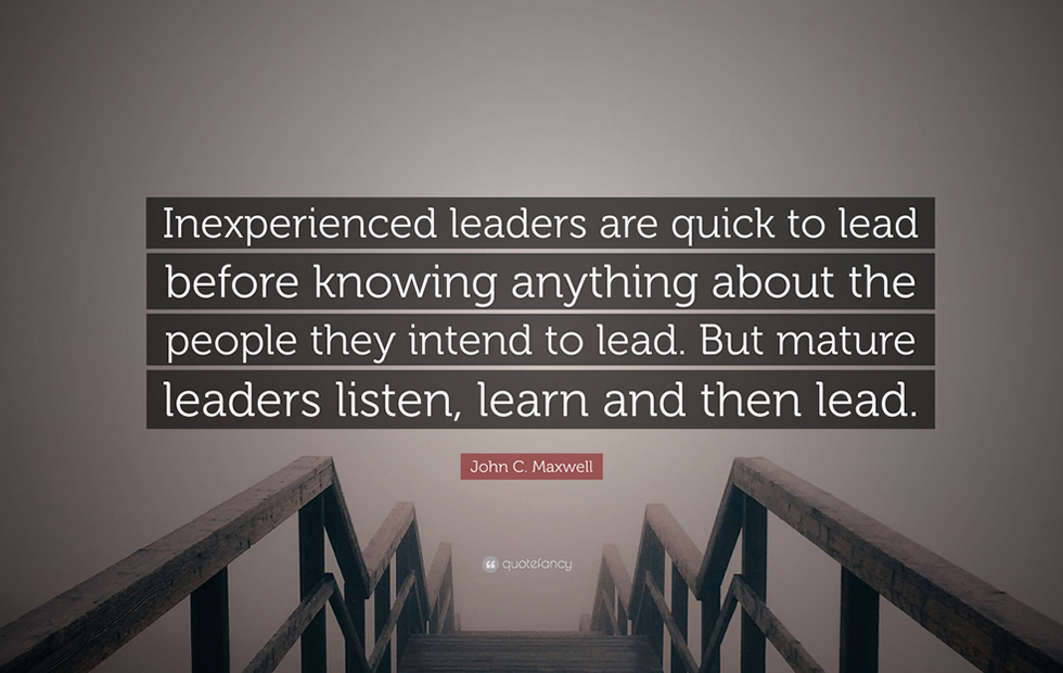 Inexperienced Leadership