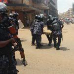 The Uganda Police Clearing Roads