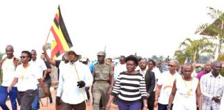 Museveni Walking
