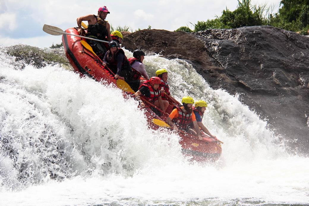 Rafting the Nile in Uganda