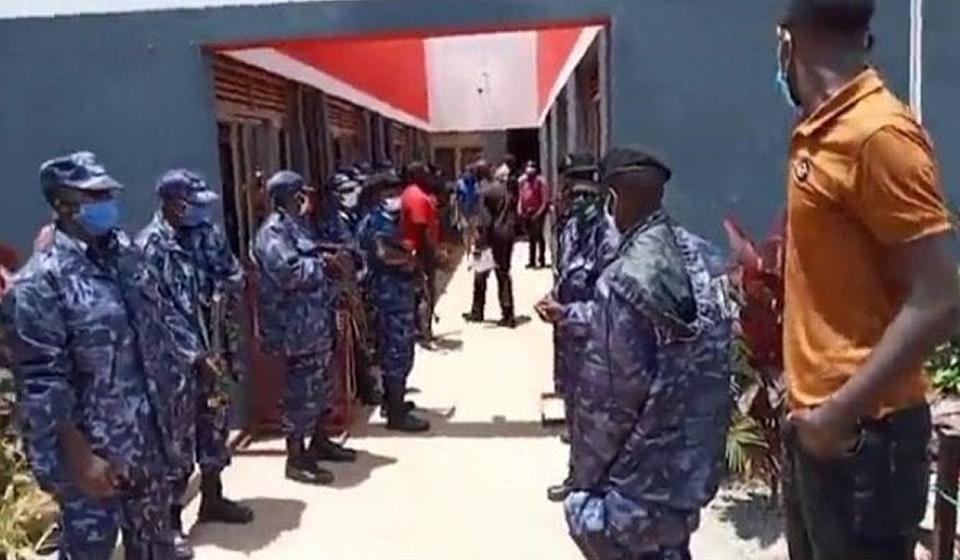 Uganda Police Raid NUP Office